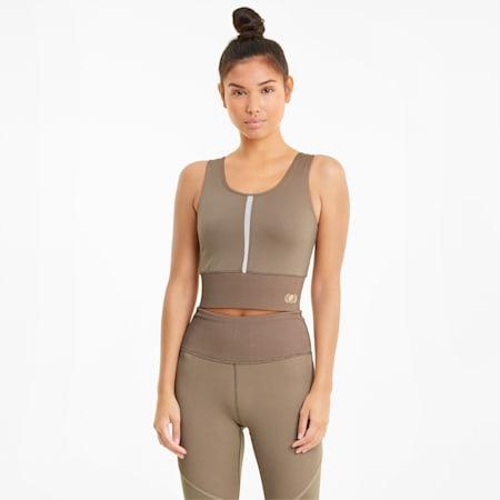 Exhale kurzes Damen Trainingsshirt, Amphora, small