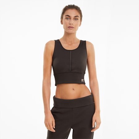 Exhale Women's Training Crop Top, After Dark, small-IND