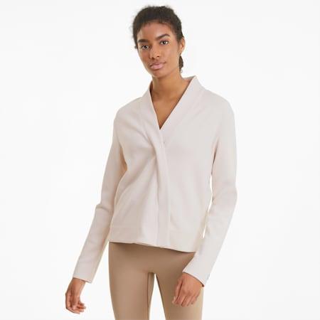 Exhale Knit Damen Trainingsüberziehjacke, Pastel Parchment, small