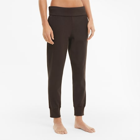 Exhale Ribbed Knit Women's Training Joggers, After Dark, small-IND