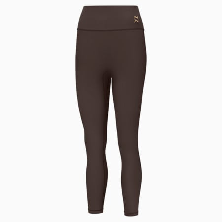 Exhale Solid High Waist 7/8 Women's Training Leggings, After Dark, small-GBR