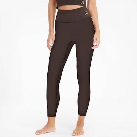 Mallas de entrenamiento lisas de cintura alta y largo 7/8 para mujer Exhale, After Dark, small