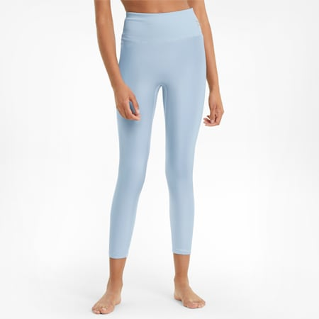 Exhale Solid High Waist 7/8 Women's Training Leggings, Quietude, small