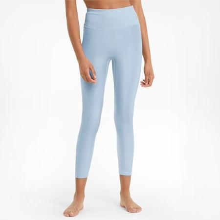 Exhale Solid High Waist 7/8 Women's Training Leggings, Quietude, small-GBR