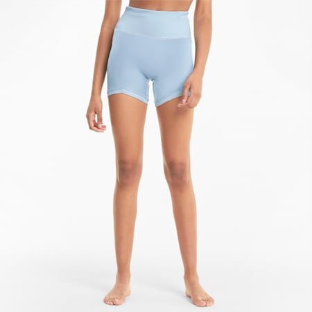 Exhale Solid Women's Training Shorts, Quietude, small-IND