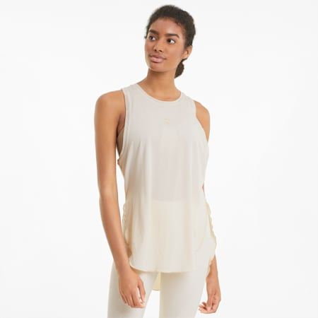 Camiseta holgada sin mangas  Exhale para mujer, Seedpearl, pequeño
