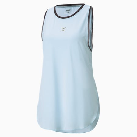 Exhale Mesh Trim Women's Training Tank Top, Quietude, small