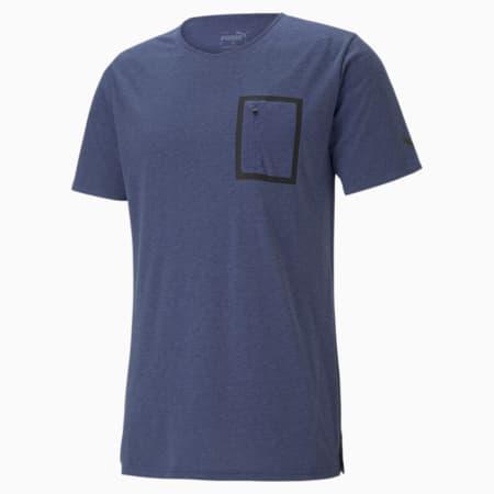 T-shirt d'entraînement non tisséSession Tech, Bleu Elektro, petit