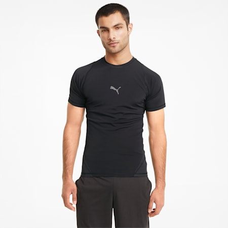 EXO-ADAPT Short Sleeve Men's Training Tee, Puma Black, small