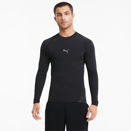 EXO-ADAPT Long Sleeve Men's Training Tee, Puma Black, small-SEA
