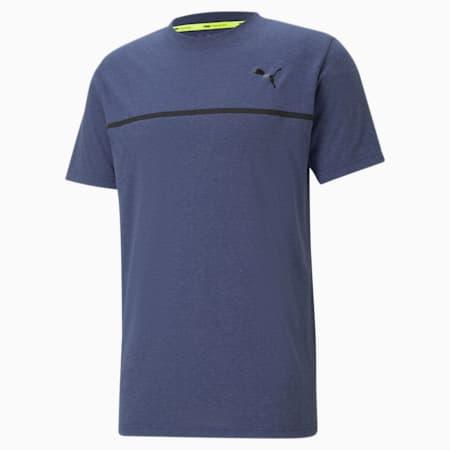 Bonded Short Sleeve Men's Training  T-shirt, Elektro Blue, small-IND