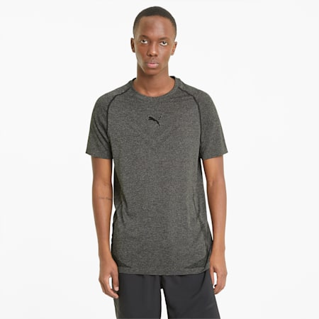 evoKNIT Tech Short Sleeve Men's Training Tee, Puma Black, small