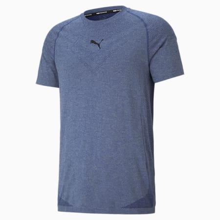 evoKNIT Tech Short Sleeve Men's Training Tee, Elektro Blue, small-SEA