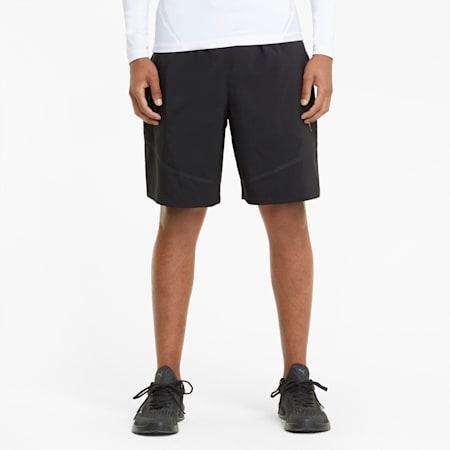 Bonded Men's Woven Training Shorts, Puma Black, small