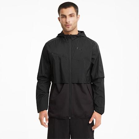 Chaqueta de entrenamiento de tejido plano Ultra para hombre, Puma Black, small