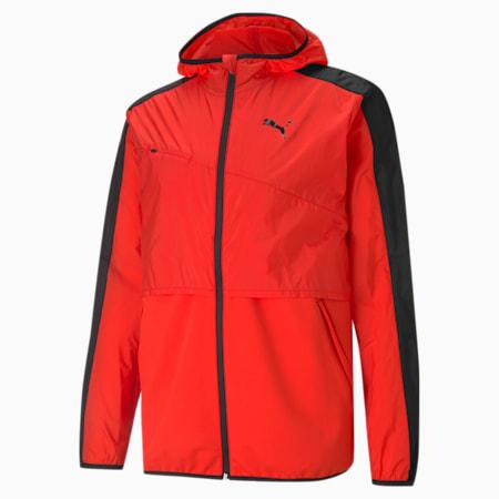 Ultra Woven Men's Training Jacket, Poppy Red-Puma Black, small