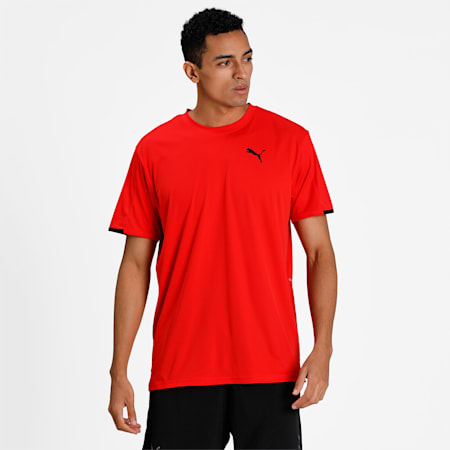Graphic Short Sleeve Men's Training  Relaxed T-Shirt, Poppy Red, small-IND