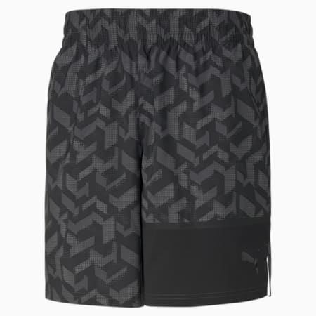 AOP Men's Woven Training Shorts, Puma Black-AOP Q1, small