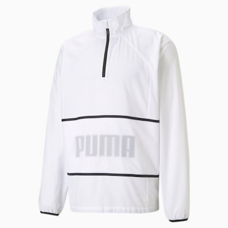 Graphic Half-Zip Men's Training Jacket, Puma White, small
