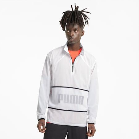 Graphic Half-Zip Men's Training Jacket, Puma White, small-IND