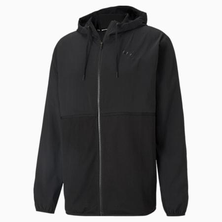 Vent Men's Hooded Training Jacket, Puma Black, small