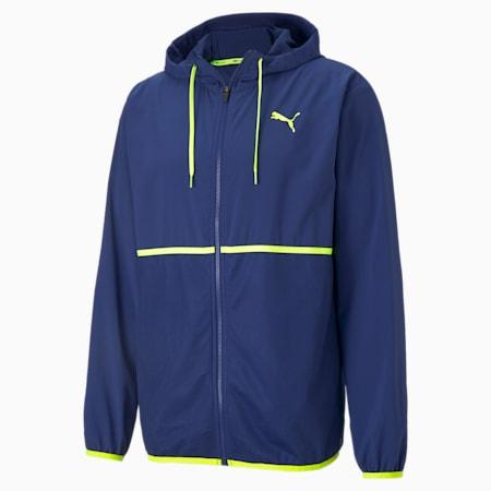 Vent Men's Hooded Training Jacket, Elektro Blue, small