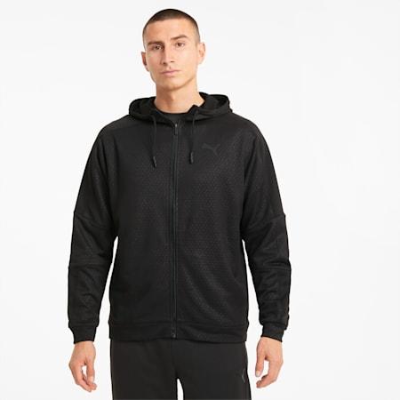 Giacca da allenamento con zip integrale Activate uomo, Puma Black, small