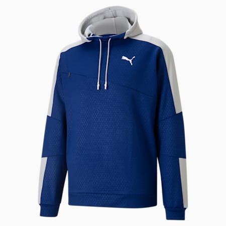 Activate Men's Training Hoodie, Elektro Blue-Gray Violet, small