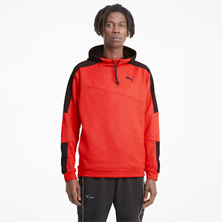 Activate Men's Training Hoodie, Poppy Red-Puma Black, small