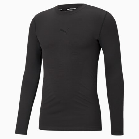 Seamless Bodywear Men's Training Slim T-shirt, Puma Black, small-IND