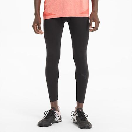 Seamless Bodywear Men's Long Training Slim Tights, Puma Black, small-IND