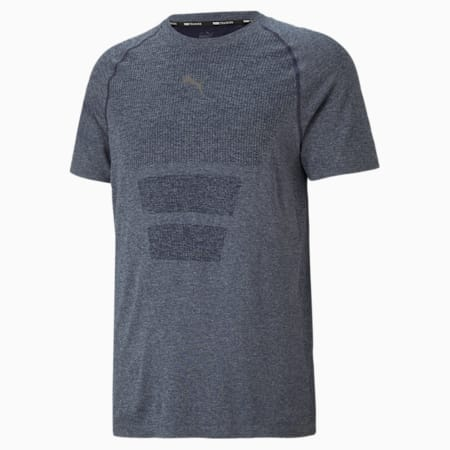 Favourite evoKNIT Short Sleeve Men's Training  Slim T-Shirt, Peacoat, small-IND