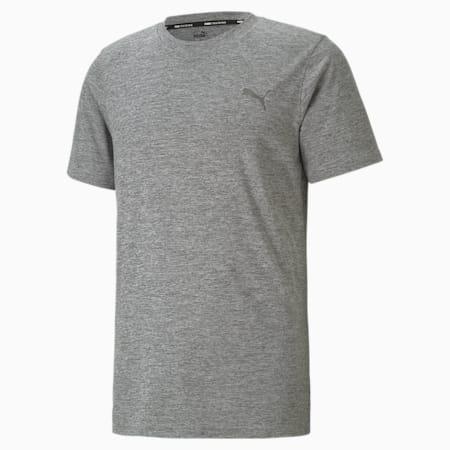 T-shirt da allenamento a maniche corte Favourite Heather uomo, Medium Gray Heather, small