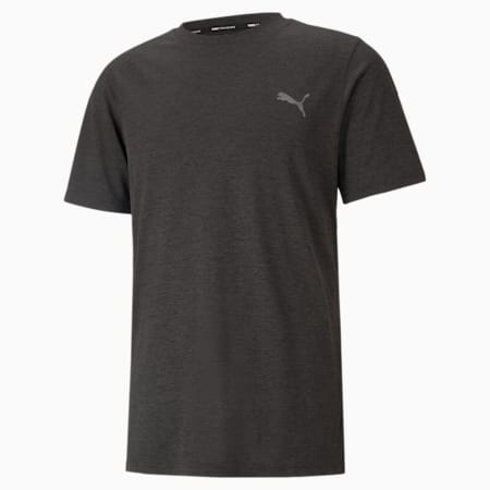 Favourite Heather Herren Trainings-T-Shirt, Dark Gray Heather, small