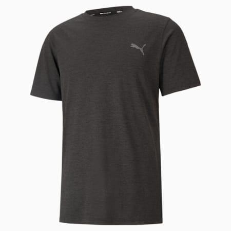 Męski T-shirt treningowy z krótkim rękawem Favourite Heather, Dark Gray Heather, small