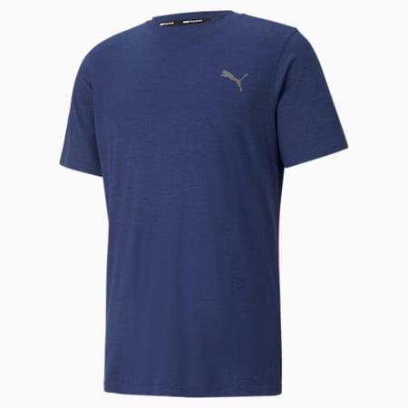 T-shirt da allenamento a maniche corte Favourite Heather uomo, Elektro Blue Heather, small