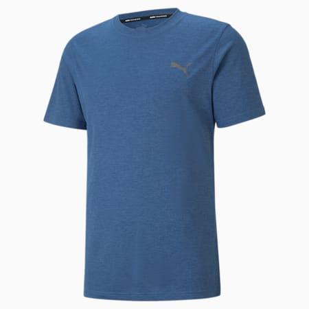T-shirt da allenamento a maniche corte Favourite Heather uomo, Star Sapphire Heather, small