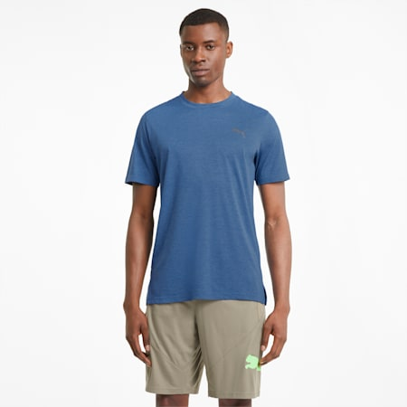Favourite Heather Herren Trainings-T-Shirt, Star Sapphire Heather, small