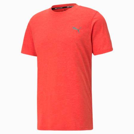 T-shirt da allenamento a maniche corte Favourite Heather uomo, Poppy Red Heather, small