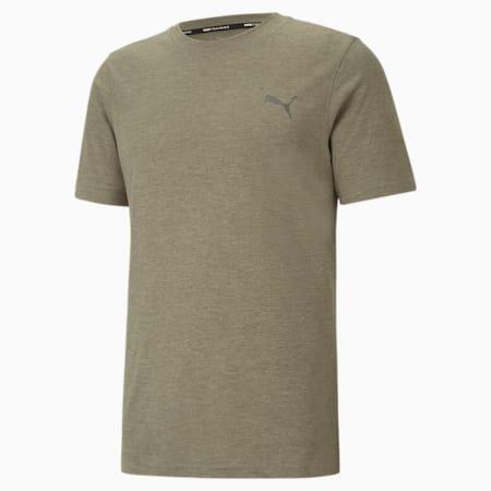 T-shirt da allenamento a maniche corte Favourite Heather uomo, Vetiver Heather, small