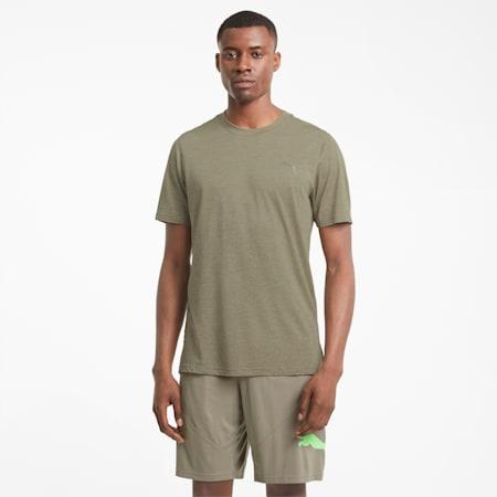 T-shirt de sport à manches courtes chiné Favourite homme, Vetiver Heather, small