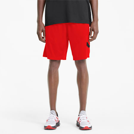 "Favourite Cat 9"" Men's Training Shorts, Puma Black-Poppy Red, small"