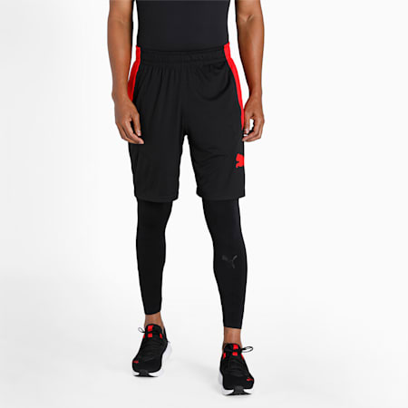 """Favourite Cat 9"""" Men's Training Loose Shorts, Puma Black-High Risk Red, small-IND"""
