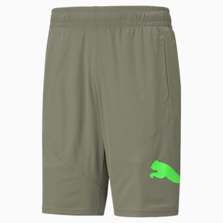 "Favourite Cat 9"" Men's Training Shorts, Vetiver, small"