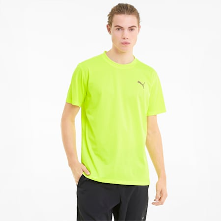 Favourite Blaster Men's Training Tee, Yellow Alert, small