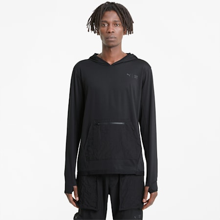 Sweat à capuche de sport léger PUMA x FIRST MILE homme, Puma Black, small