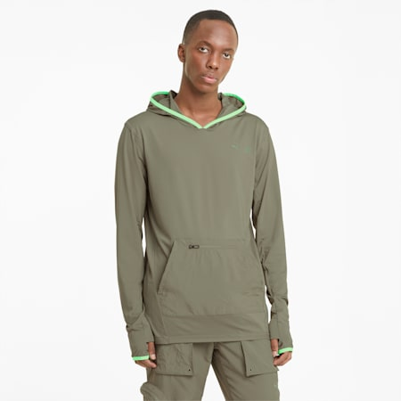 PUMA x FIRST MILE Lightweight Men's Training Hoodie<br />, Vetiver, small-GBR