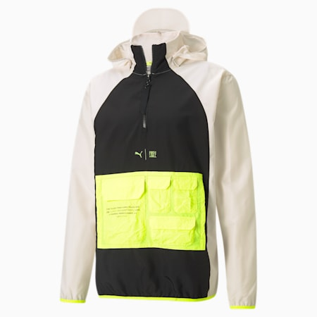 PUMA x FIRST MILE Utility Men's Training Jacket, Eggnog-Puma Black, small-GBR