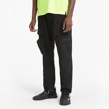 PUMA x FIRST MILE Woven Men's Training Pants, Puma Black, small-IND