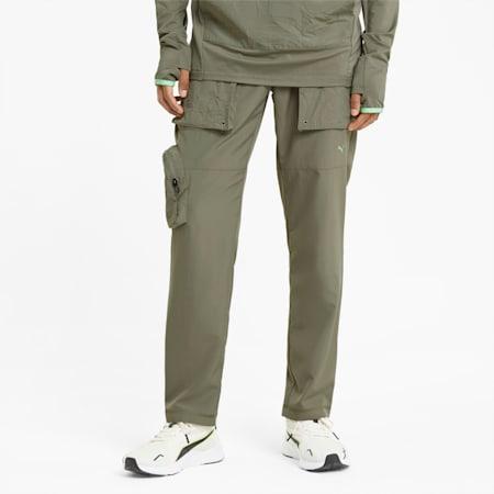 Pantalon d'entraînement fuselé PUMA x FIRST MILE, homme, Vétiver, petit